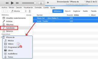 Como pasar Música iPhone
