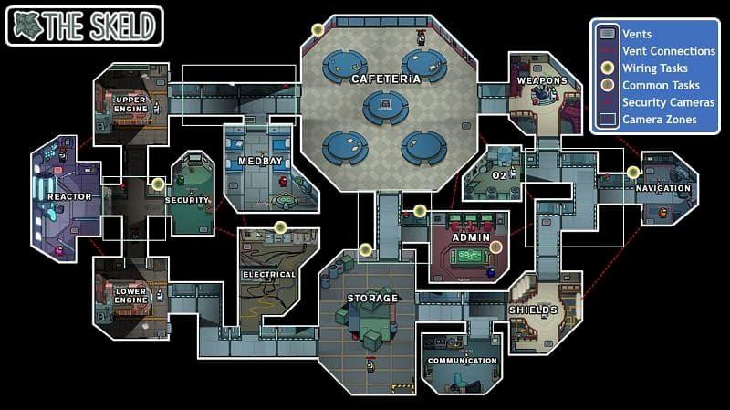 Among Us Mapa The Skeld